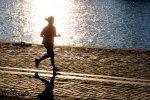jogging na plaży