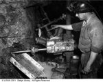 górnik przy pracy